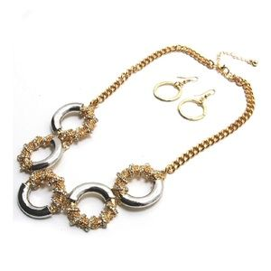 Crystal Pearl Resin Stone Collar Bib Bubble Statem